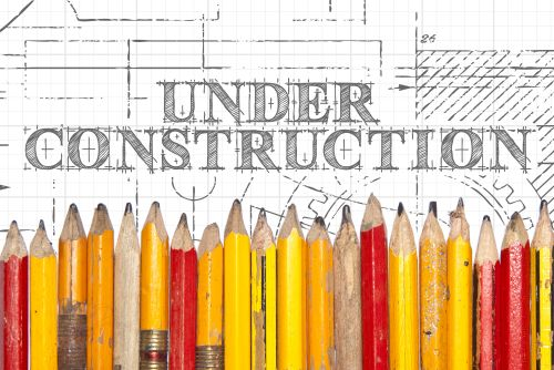 Website under construction art