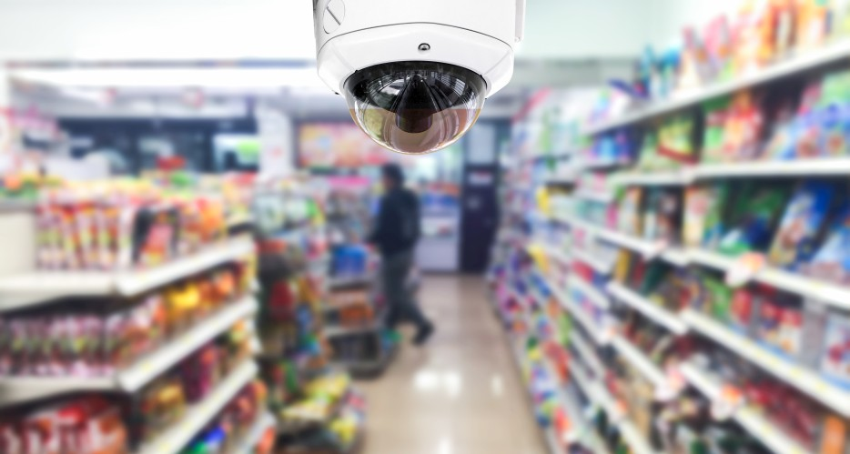 Security camera installed in an SMB convenience store