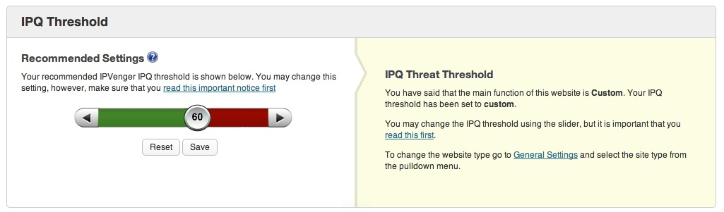 IPG Threshold