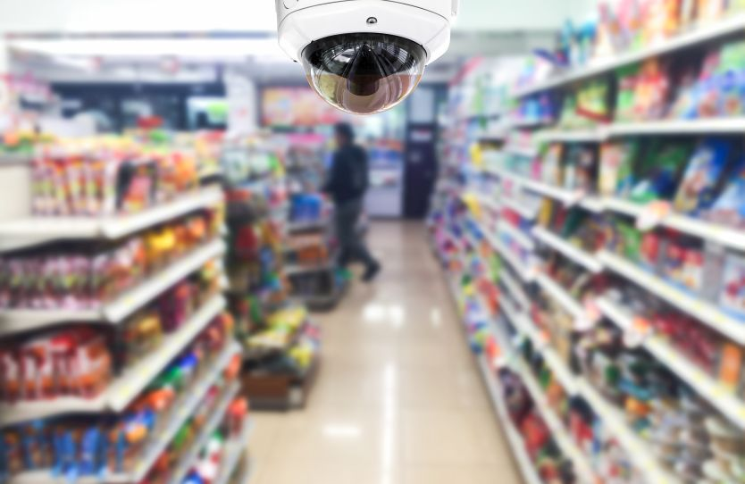Surveillance camera in an SMB store